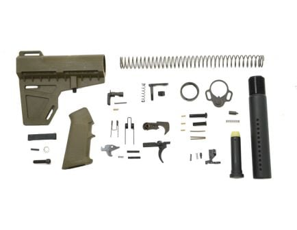 PSA Classic AR-15 Lower Build Kit with Shockwave Pistol Brace