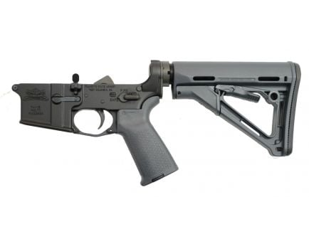 Gray Magpul CTR Edition AR 15 complete lower receiver
