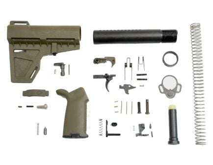Shockwave AR-15 Lower Build Kit in Olive Drab Green