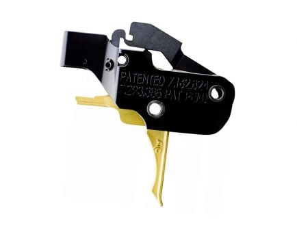 American Trigger Corporation AR Gold Adjustable 7.62 Flat Trigger - ATC-ARGold-762-Flat