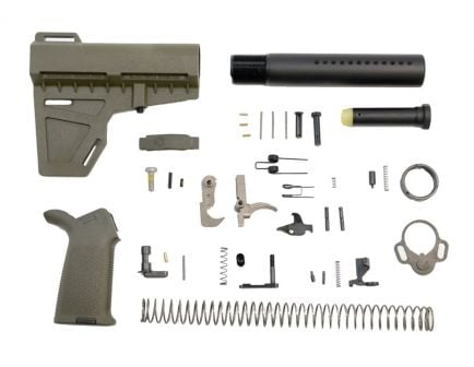 Olive Drab Green MOE AR-15 Lower Build Kit