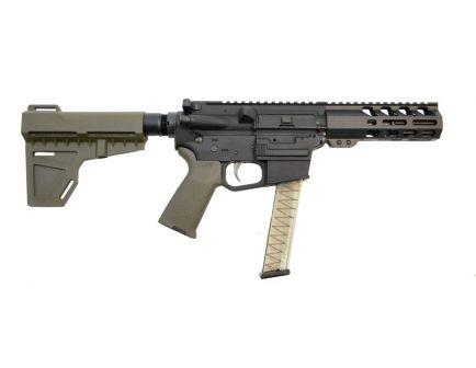 """PSA 4"""" 9mm 1/10 M-Lok MOE EPT Shockwave Pistol, Olive Drab Green - 5165448681"""