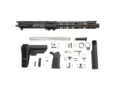 "10.5"" carbine length railed ar-15 pistol kit"