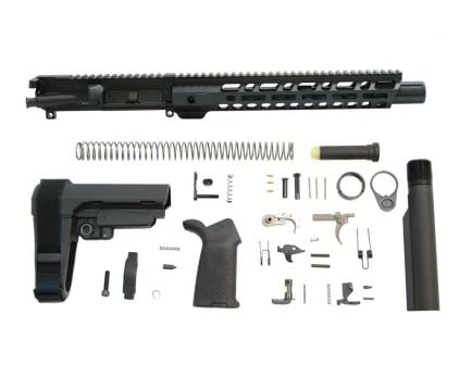 "PSA 10.5"" Carbine-Length 5.56 NATO 1/7 Nitride 12"" Slant M-Lok MOE EPT SBA3 Pistol Kit - 5165448877"