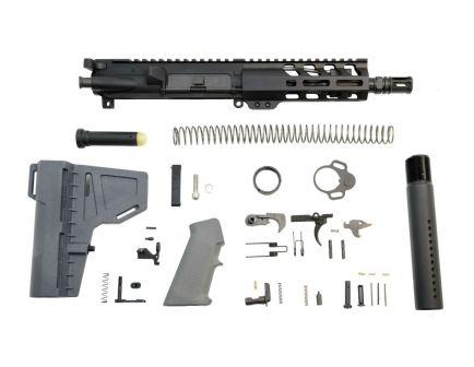 "psa 7"" nitride 5.56 1/7 6"" lightweight m lok classic shockwave pistol kit in gray"