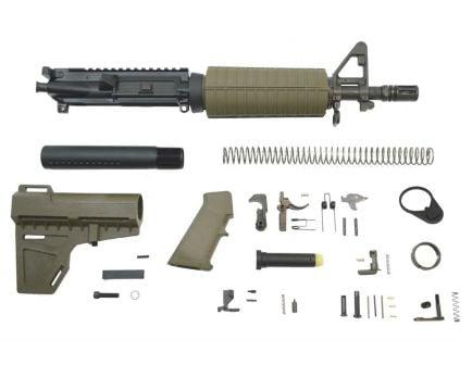 "PSA 10.5"" 5.56 NATO 1/7"" Phosphate Classic Shockwave Pistol Kit, Olive Drab Green - 5165448972"