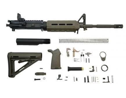 "PSA 16"" Carbine-Length M4 5.56 NATO 1/7 Phosphate MOE EPT Rifle Kit w/ Rear MBUS, ODG"