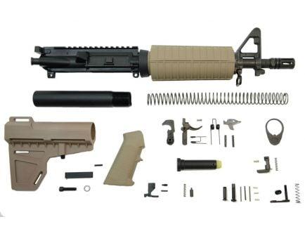 "PSA 10.5"" 5.56 NATO 1/7"" Nitride Classic Shockwave Pistol Kit, Flat Dark Earth - 5165449746"