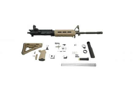 "PSA 16"" M4 Carbine-Length 5.56 NATO 1/7 Phosphate MOE EPT Rifle Kit with Rear MBUS, Flat Dark Earth"