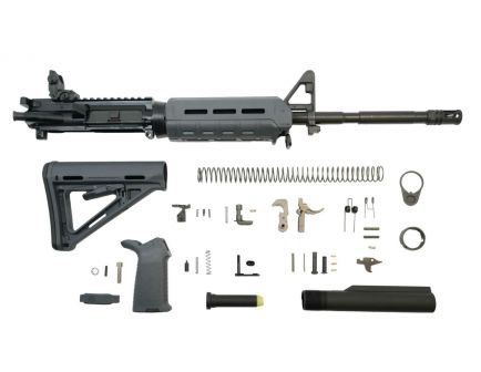"PSA 16"" M4 Carbine-Length 5.56 NATO 1/8 Phosphate MOE EPT Rifle Kit With MBUS Rear, Gray"