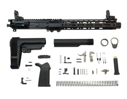 "PSA 10.5"" Carbine 5.56 NATO 1:7 Nitride 12"" Slant M-Lok MOE EPT SBA3 Pistol Kit w/ MBUS Set & NiB BCG"