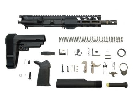 "PSA 7.5"" Phosphate 300 Blackout 1:8 6"" Lightweight M-Lok MOE EPT SBA3 Pistol Kit w/NiB BCG"