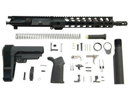 "12"" carbine length MOE SBA3 railed ar-15 pistol kit"