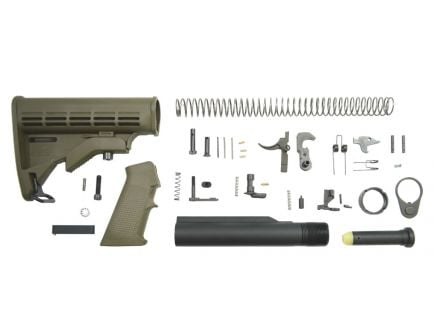 Classic AR-15 lower build kit in olive drab green