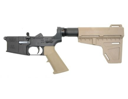 PSA AR-15 Complete Classic Shockwave Pistol Lower, Flat Dark Earth - No Magazine