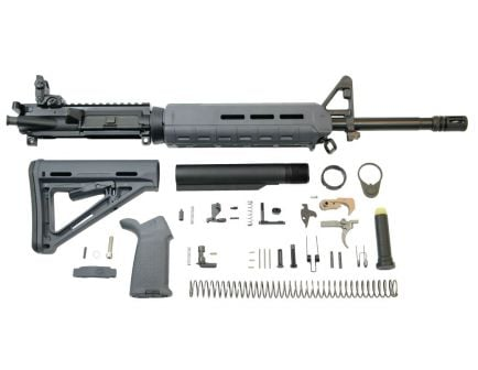 "PSA 16"" Mid-Length 5.56 NATO 1/7 Phosphate MOE EPT Rifle Kit With MBUS Rear, Gray"