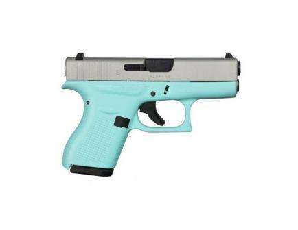 Glock G42 .380 ACP Silver Aluminum Cerakote and Robin Egg Blue Subcompact Pistol - UI4250204RESA