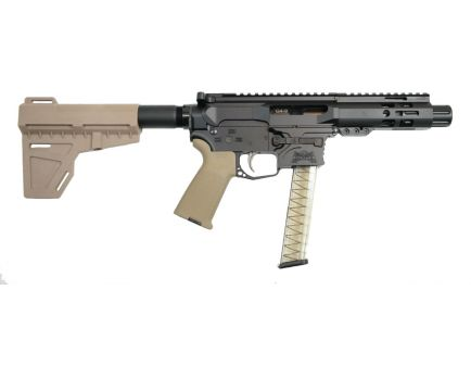 """PSA Gen4 4"""" 9mm 1/10 M-Lok MOE EPT Shockwave Pistol, Flat Dark Earth - 5165450151"""