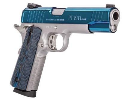Taurus PT-1911 .45 ACP Stainless Steel & Blue Pistol - 1-191109B-VZ