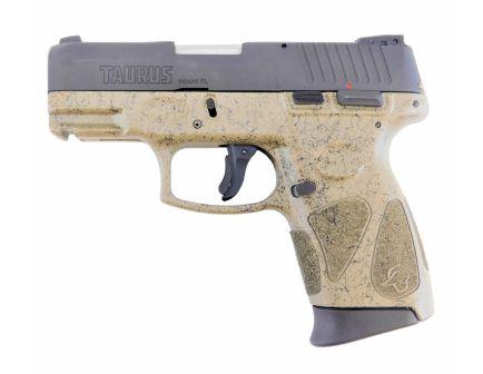 """Taurus G2C 9mm 3.25"""" 12 Round Pistol, Splatter FDE/Black"""