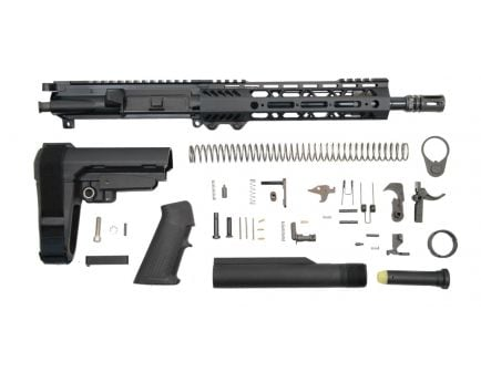 "PSA 10.5"" 5.56 NATO 1/7 Nitride 9"" Lightweight M-Lok Classic SBA3 Pistol Kit - 5165450475"