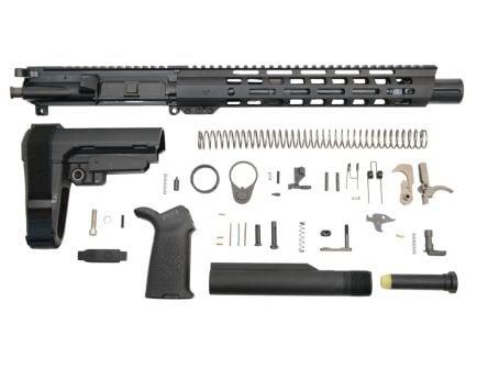 "10.5"" SBA3 AR 15 300 blackout pistol kit"