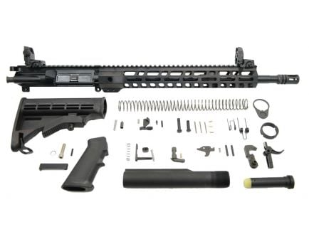 Lightweight ar 15 rifle kit with MBUS