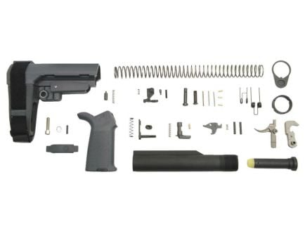 SBA3 MOE EPT AR-15 lower build kit in gray