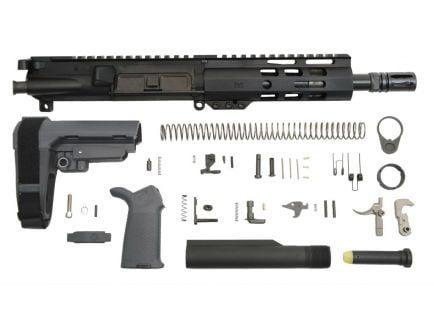 """7.5"""" 300 blackout railed ar-15 pistol kit in gray"""