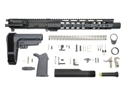"""10.5"""" railed pistol kit for ar-15 in gray"""