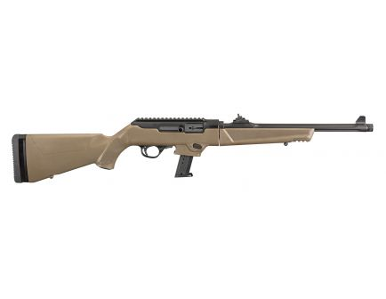 Ruger PC Carbine 9mm Rifle, Fluted/Threaded, FDE - 19105