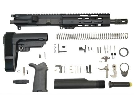 "PSA 8.5"" lightweight blackout railed pistol kit for ar-15"