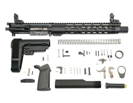 "10.5"" MOE SBA3 railed pistol kit with MBUS sight set"