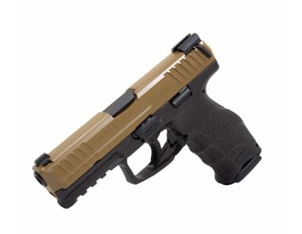 HK VP9 9mm 15 Round Pistol, Flat Dark Earth Slide w/ Black Frame - 81000156