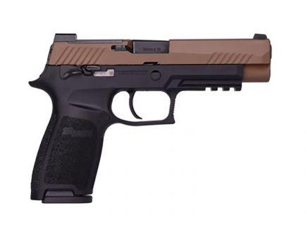 Sig Sauer P320 M17 9mm Pistol, Coyote Tan & Black - 320F-9-T-M17-MS