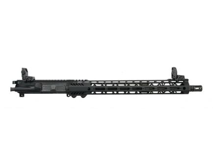 "PSA 16"" Mid-Length Pencil 5.56 NATO 1/7 Nitride 15"" Lightweight M-lok Upper - With Nickel Boron BCG, CH, & MBUS Sight Set"