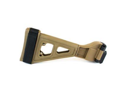 SB Tactical SBTEVO CZ Scorpion Evo Side Folding Pistol Stabilizing Brace, FDE - SBTEV-02-SB