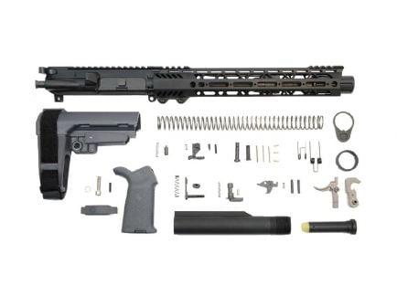 "10.5"" railed ar-15 pistol kit in gray"