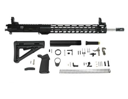 "PSA 18"" Rifle-Length .223 Wylde 1/7 Stainless Steel 15"" Lightweight M-lok MOE EPT Rifle Kit w/MBUS Sight Set"
