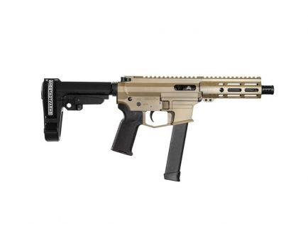 "Angstadt Arms UDP-9 9mm 6"" Pistol with SBA3 Brace, Flat Dark Earth - AAUDP09BF6"