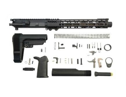 "PSA 10.5"" Carbine-Length 5.56 NATO 1/7 Nitride 12"" Slant M-Lok MOE+ EPT SBA3 Pistol Kit"