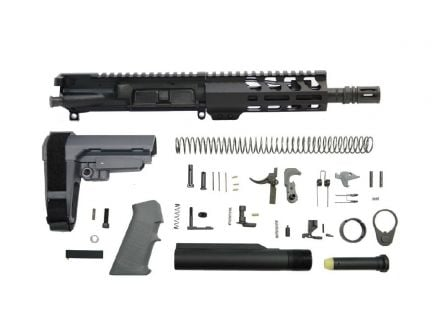 "PSA 7.5"" Phosphate 300AAC Blackout 1/8 6"" Lightweight M-Lok Classic SBA3 Pistol Kit, Gray"