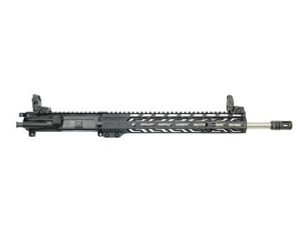 "PSA 16"" Mid-Length Pencil 5.56 NATO 1:7 Stainless Steel 13.5"" Lightweight M-LOK Upper with NiB BCG, CH, & MBUS Sight Set"