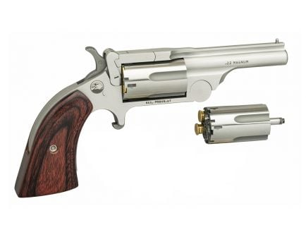 """North American Arms Ranger II .22 Mag/LR 2.5"""" Break Top Revolver, Stainless - NAA-22MCBTII250"""