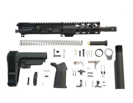 """PSA 7.5"""" Pistol-Length 300AAC Blackout 1/7 Nitride 6"""" Lightweight M-Lok MOE EPT SBA3 Pistol Kit"""