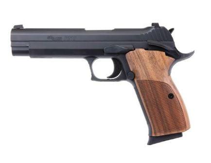 Sig Sauer P210 Standard 9mm Pistol, Black w/ Walnut Grips - 210A-9-B