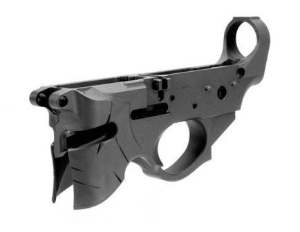 Sharps Bros. Overthrow AR-15 Stripped Lower w/ Open Mag Well Helmet Design - SBLR07