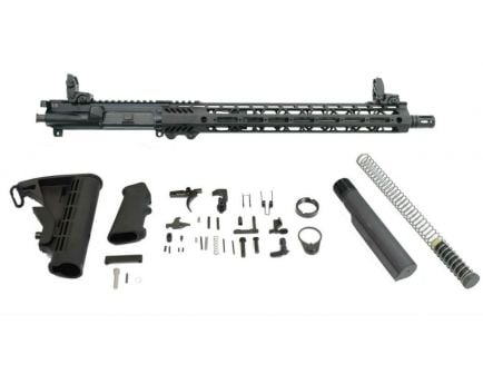 "PSA 16"" 300AAC Blackout Pistol-Length 1/8 Nitride 15"" Lightweight M-Lok Freedom Rifle Kit w/MBUS Sight Set"