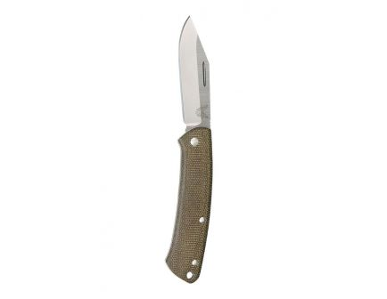 Benchmade Proper Clip Point Drop Joint Folding Knife, Satin - 318