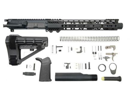 "PSA 10.5"" Carbine-Length 5.56 NATO 1/7 Nitride 12"" Slant M-Lok MOE EPT SBA4 Pistol Kit"